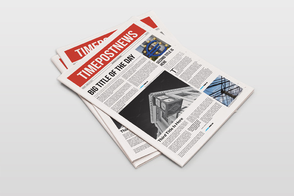 Newspaper Template 12 Pages