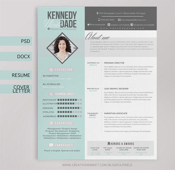 Resume CV Cover Letter Template