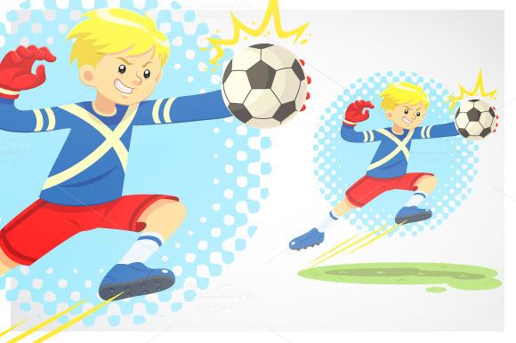 Soccer Boy Catch The Ball