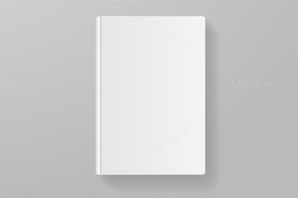 Vector Books Blank Set Flat