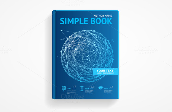 Vector Science Book With Sphere