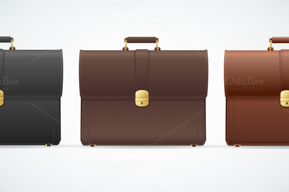 Vector Briefcase Cuitcase Set