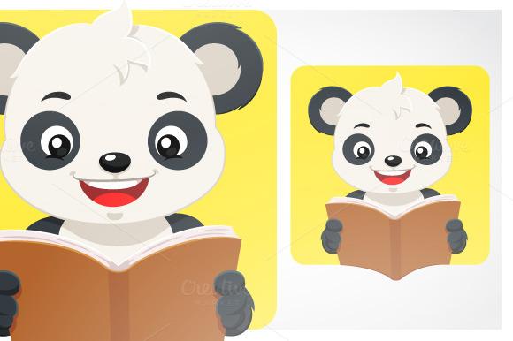 Little Panda Bear Reading A Book