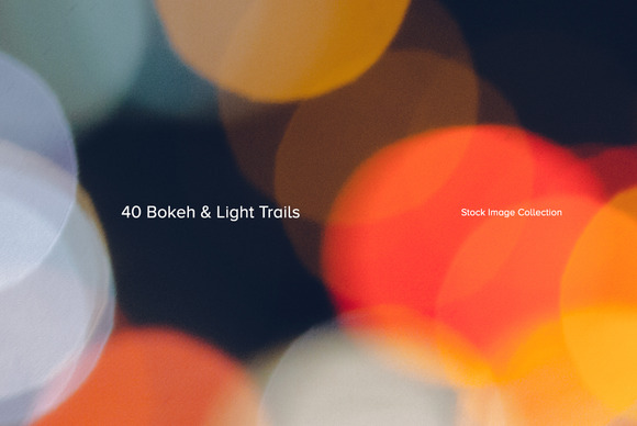 40 Bokeh Light Trail Images