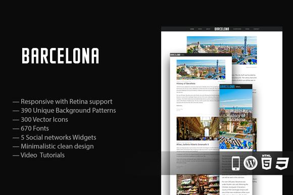 70% Off Barcelona Responsive Theme