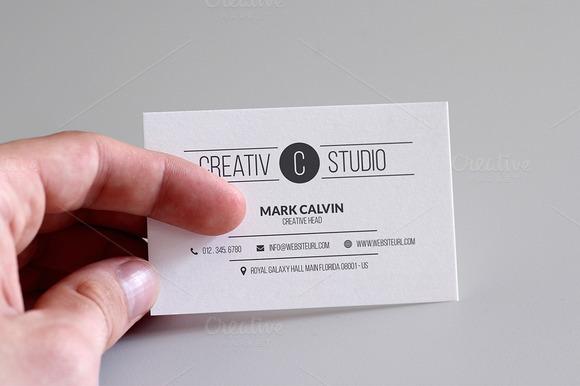 Simple Minimal Business Card 52