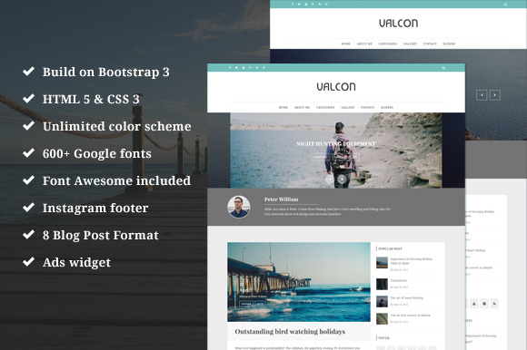 Valcon Responsive WP Blog Theme