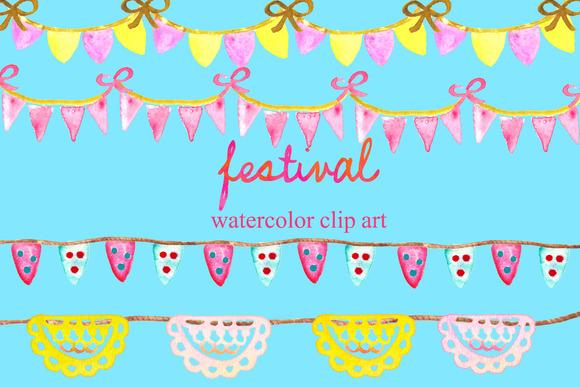 Festival Watercolor Elements