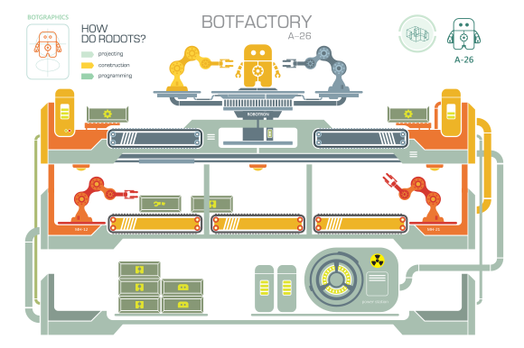 Botfactory Vector Illustration
