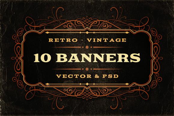 10 Retro Vintage Banners