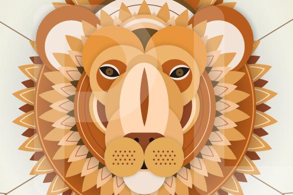 Head Of A Bull Lion Deer