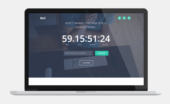 WP Bell Countdown Landing Page