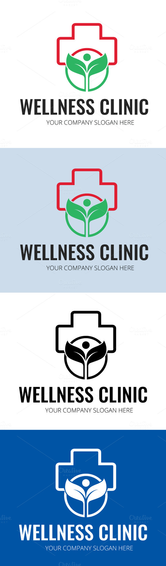 Wellness Clinic Logo Template
