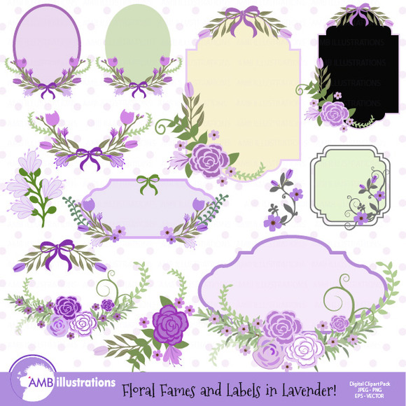 Floral Frames And Tags Clipart 860