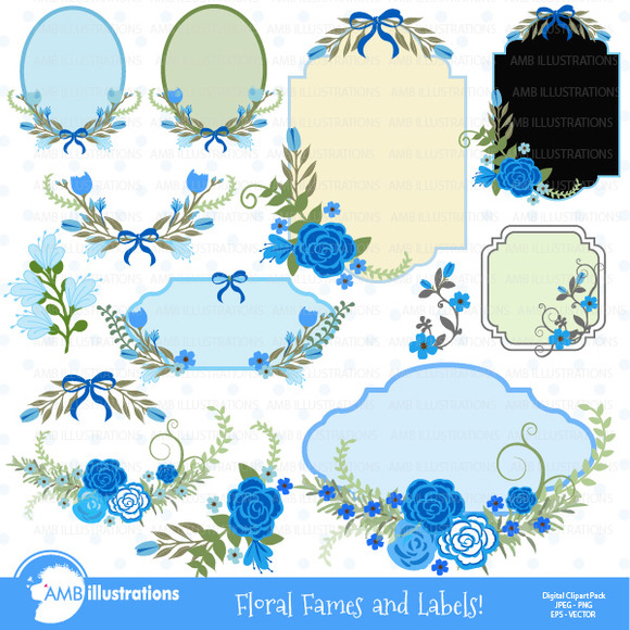Floral Frames And Tags Clipart 863