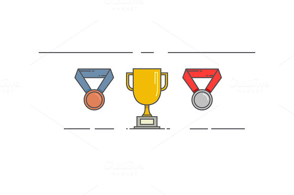 Vector Linear Award Icons