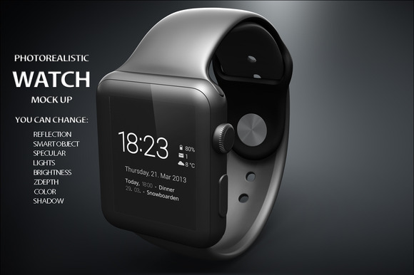 Apple IWatch Mock Up