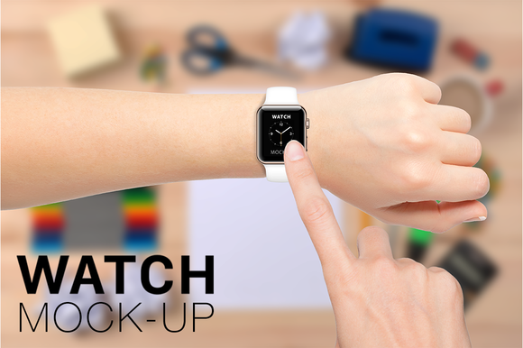 Apple Watch Mockup Gold Edition