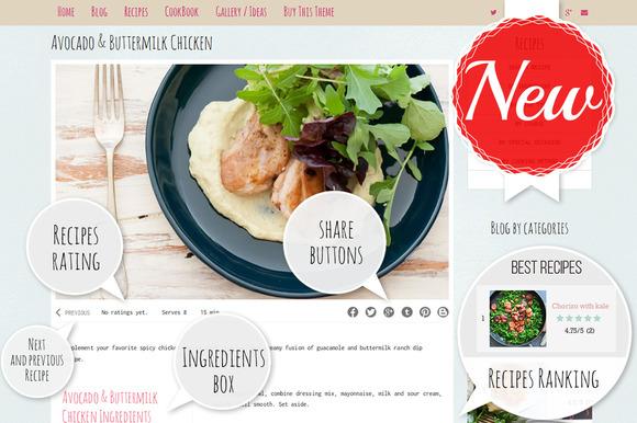 Food WordPress Theme Feminine