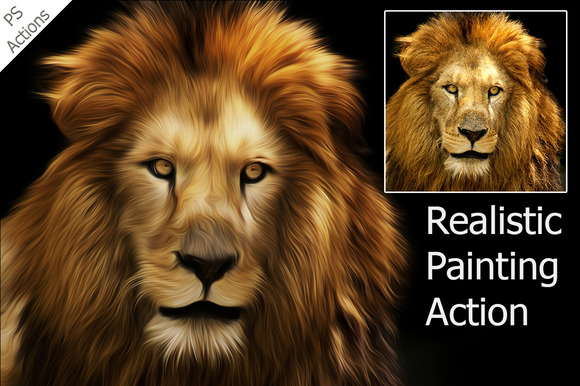 Realistic Painting Ps Action