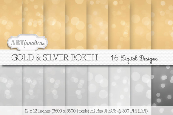 Gold Silver Bokeh Backgrounds