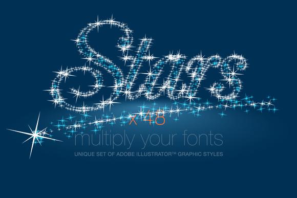 AI CS5 Graphic Styles Shining Stars