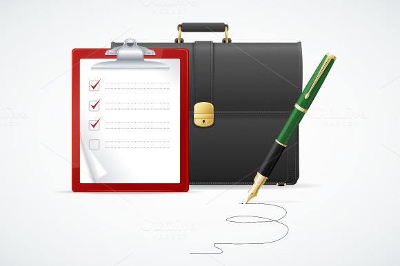 Vector Briefcase Cuitcase Concept