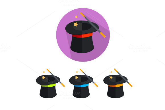 Vector Magic Hat Icon Set