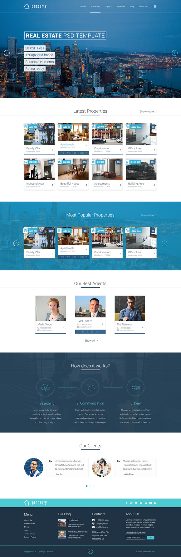 Property Real Estate PSD Template