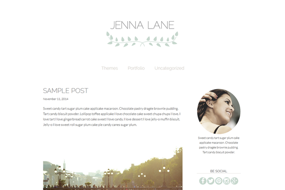 Jenna Lane-Feminine WordPress Theme