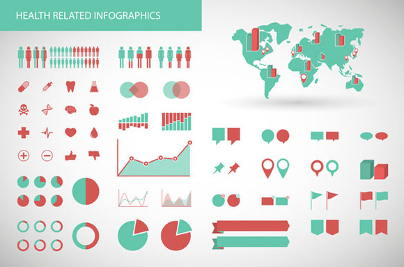 Health Related Infographics Set