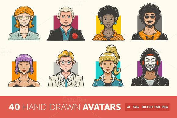 Hand Drawn Avatar Icons