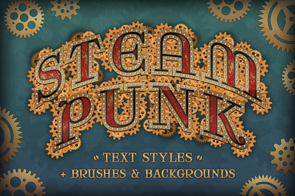 Steam Punk Text Styles Bonus