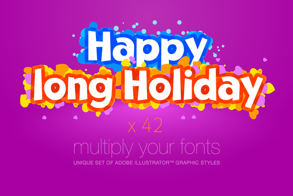 AI CS5 Graphic Styles Happy Holidays