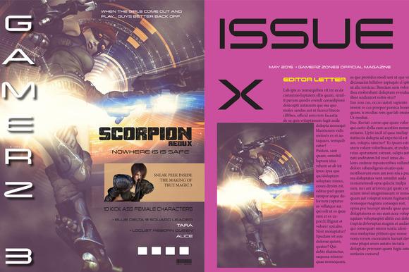 Gamer Magazine Template