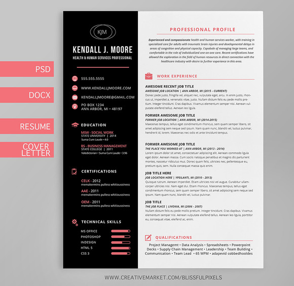 Resume Cover Letter Template Suite