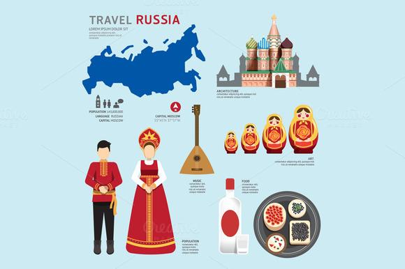 Travel Concept Russia Landmark