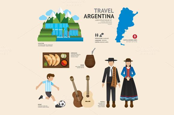 Travel Concept Argentina Landmark