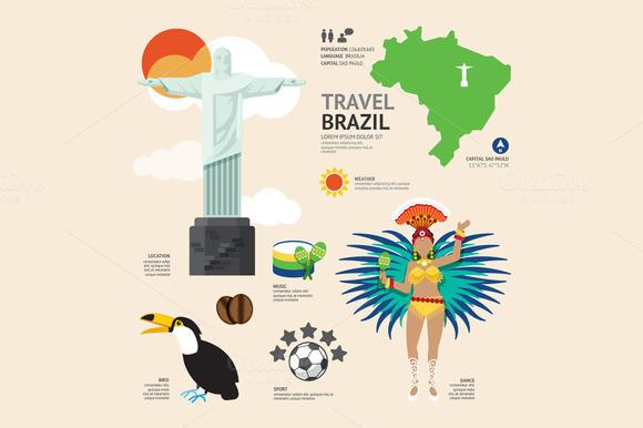 Travel Concept Brazil Landmark