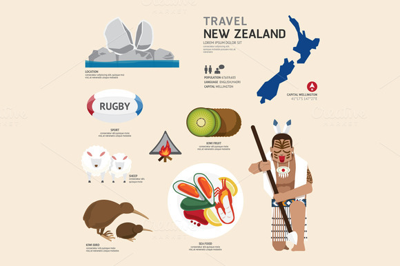 Travel Concept New Zealand Landmark