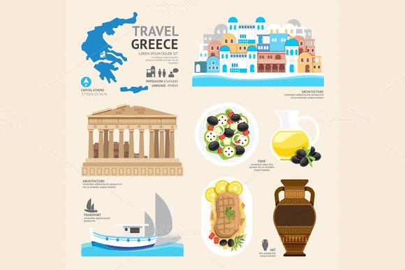 Travel Concept Greece Landmark