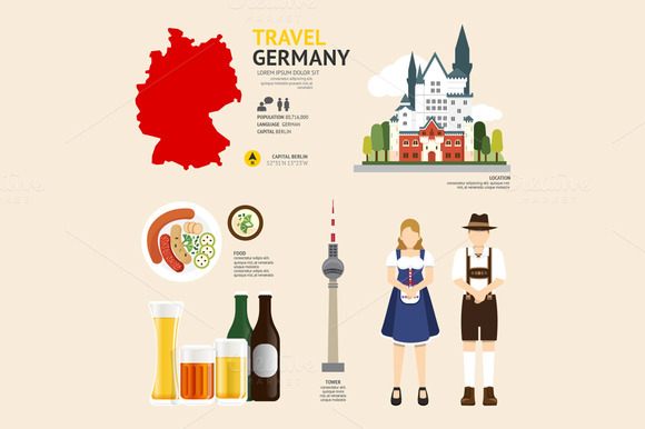 Travel Concept Germany Landmark