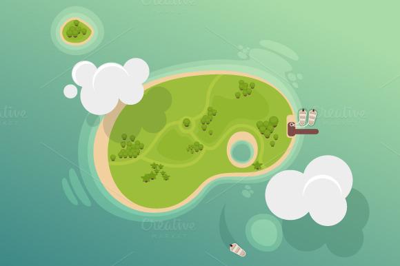 5 X Island Illustration
