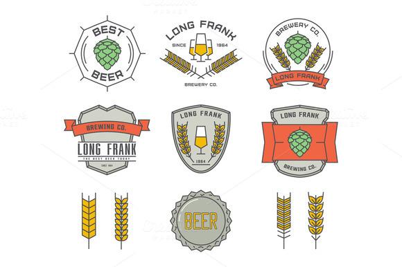 Vector Linear Brewery Logos