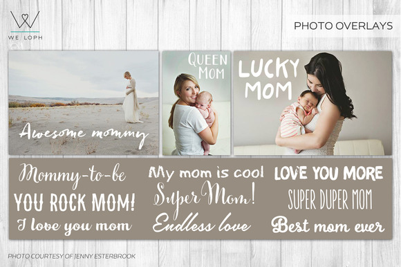 Mother S Day LetteringPhoto Overlays