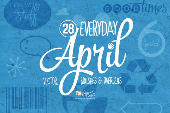 Vector Brushes Overlay April