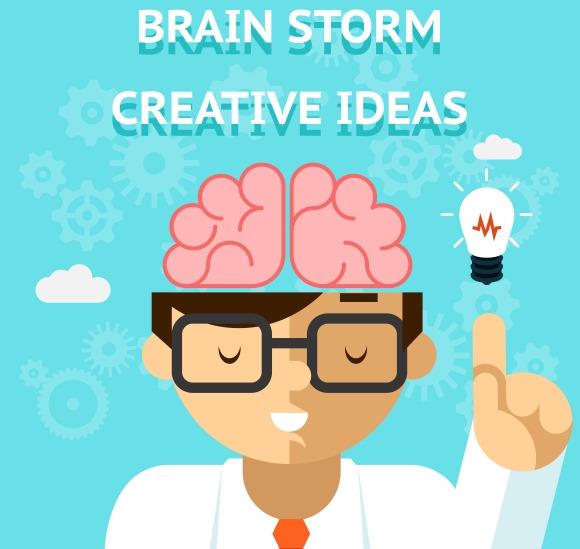 Brain Storm Creative Idea Concept