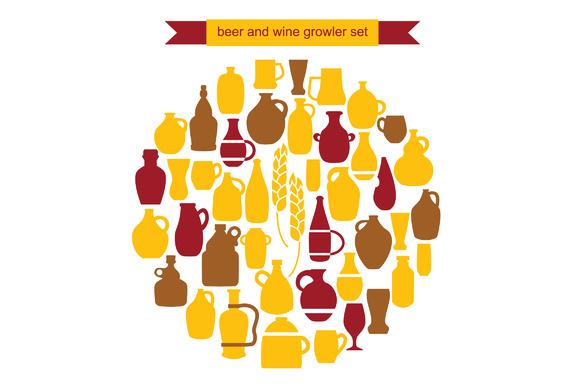 Beer And Wine Growler Set