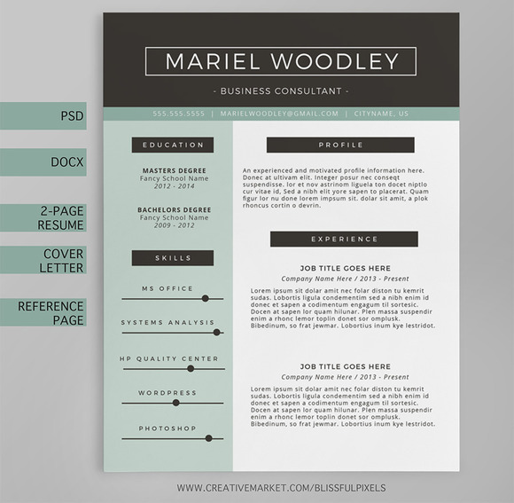 Resume Template 4-Page CV Template