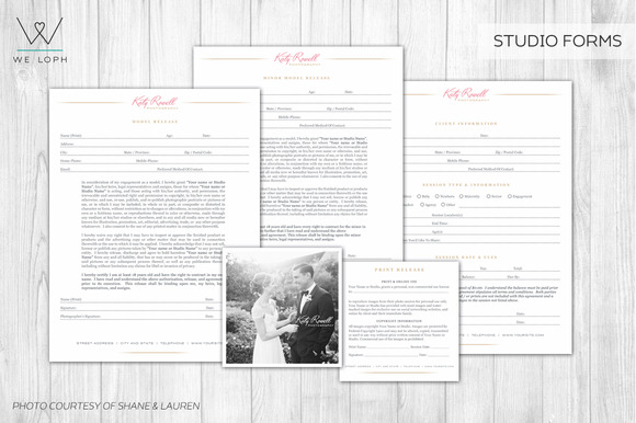 Photography Studio Forms Templates
